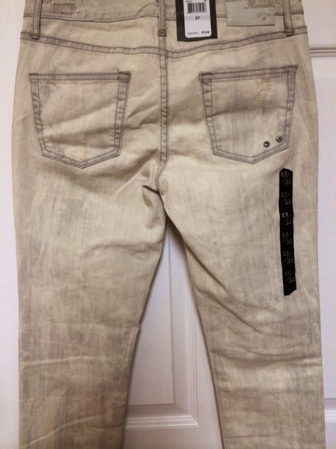 Converse Pants Stretch Distressed Copley Rocker Bleached Casual Chic Modern Cool Edgy Skinny Jeans-Distressed