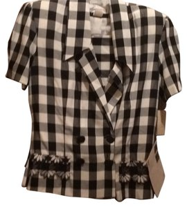 Necessary Objects Black/white Check Skirtsuit