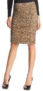 Vince Sequin Limited Edition Skirt muted gold