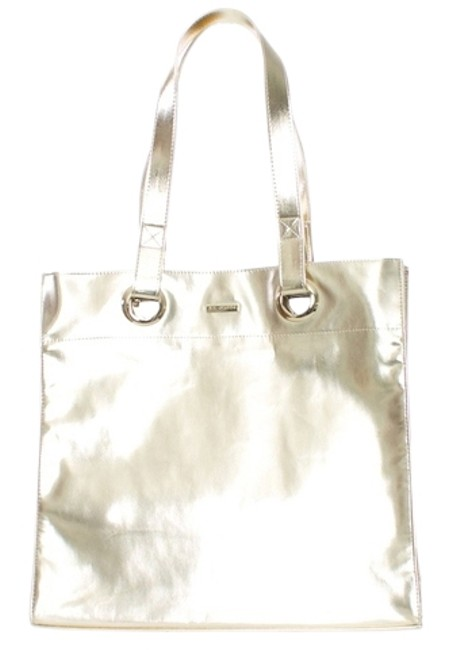 Item - Metallic Large New Gold Leather Tote