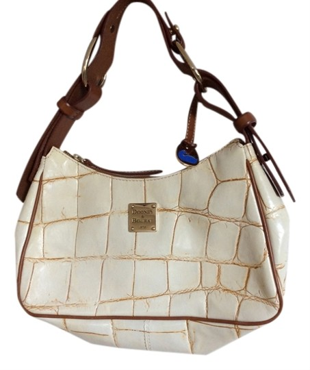 Dooney & Bourke & Handbag Beige Tan White Hobo Bag