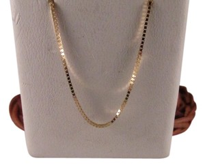 14K Solid Yellow Gold Box Chain 16 Inches