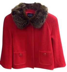 St. John Knit Cape Caplet red Jacket