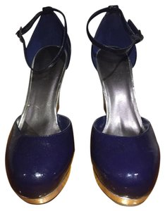 Charles by Charles David Dark Blue Wedges