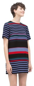 Zara short dress Multicolor Striped Mini Shift Summer on Tradesy