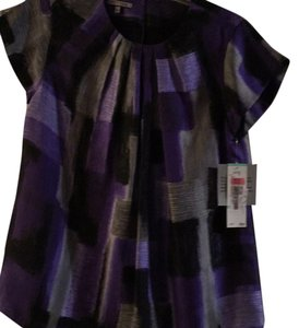 Anne Klein Top Purple/gray multi