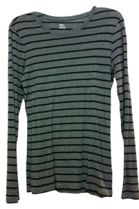 Gap T Shirt Grey with Black Stripes