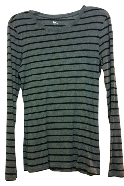 Preload https://item2.tradesy.com/images/gap-grey-with-black-stripes-supersoft-tee-shirt-size-12-l-5251126-0-0.jpg?width=400&height=650