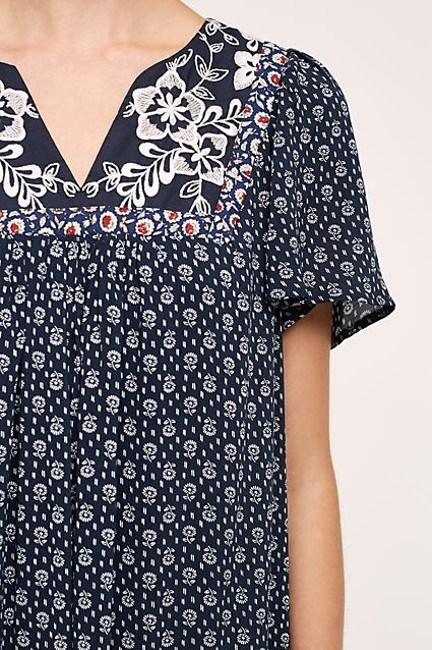 Anthropologie short dress Navy Tiny Anthro Marguerite on Tradesy