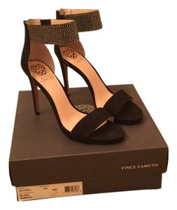Vince Camuto Suede Velvet Evening Black and Silver Formal