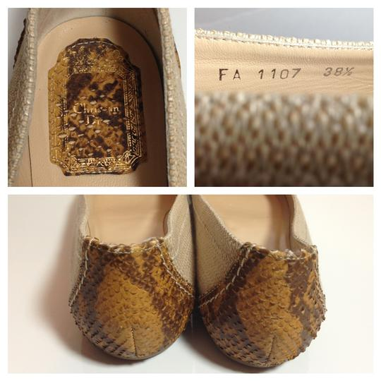 Dior Christiandior Summerflats Snake Neutral Flats