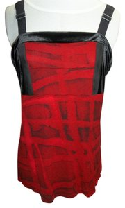 Simply Vera Vera Wang Simply Vera Vera Wang Cami. Red/Black Design, Adustable Straps, Size Large
