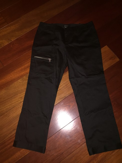 Laundry by Shelli Segal Zippers Capri/Cropped Pants Black
