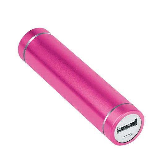 Merkury Innovations Merkury 2200mAh Portable Power Bank Backup Battery Charger (Aluminum Pink)