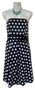 XOXO Polka Dots Strapless Bows Dress