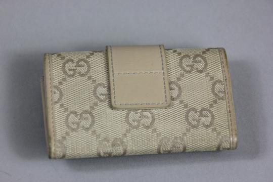 Gucci * Gucci Canvas Key Holder - Peach