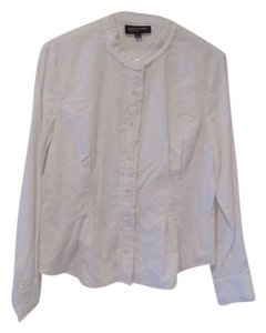Jones New York Office Dressy Cotton Prairie Basic Shirt Shirt Button Up Buttons With Tags With Tag Top White