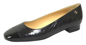 Chanel Patent Leather 36.5 Black Flats