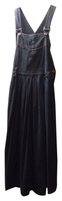 Blue Maxi Dress by Other Overalls Jean Circa Usa Made