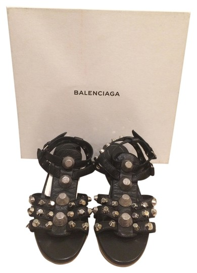 Preload https://item4.tradesy.com/images/balenciaga-black-new-studded-wedge-leather-sandals-size-us-5-5252923-0-0.jpg?width=440&height=440