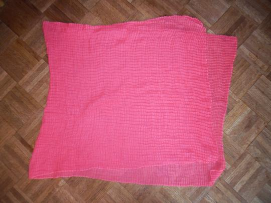Other Coral/Salmon Orange Crinkled Wide Scarf Shawl Wrap