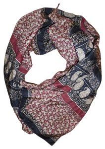 Other Paisley Striped Silk Scarf