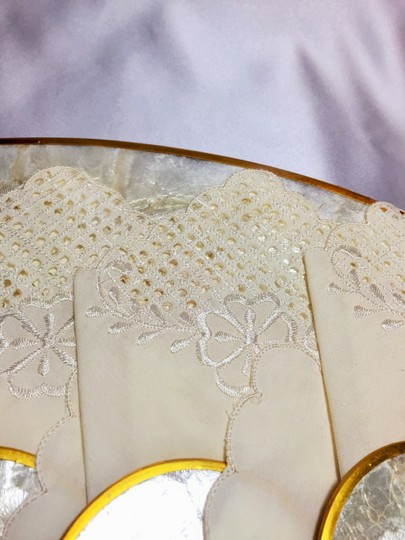 Other Philippine Place Settings for 6; Capiz Shell Placemats & Coasters, Tiger Cowrie Shell Napkin Rings and Embroidered Napkins [ Roxanne Anjou Closet ]