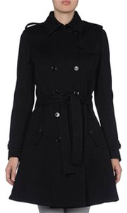 John Galliano Virgin Wool Made In Italy Classic Logo Pea Coat