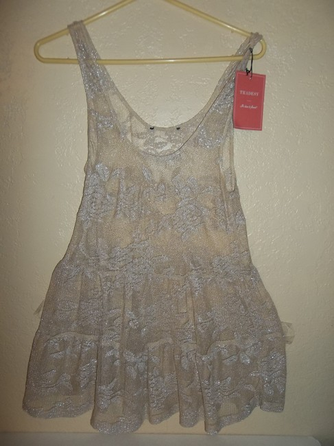 Other Glittery Holiday Top Beige/Gold