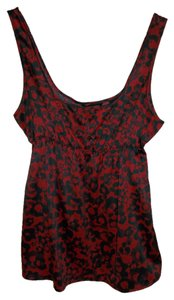 New York & Company Top Red/Black