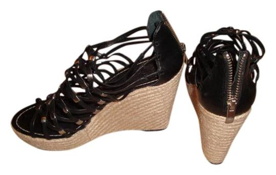 Vince Camuto Black, Silver, Tan Wedges