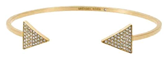 Michael Kors Micheal Kors Gold Tone Pave Triangle Open Cuff