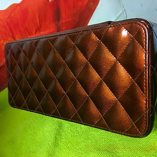 Chanel Clutch Hand Small Tote in copper brown ( frosted)