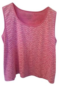 White Stag Top Pink/white