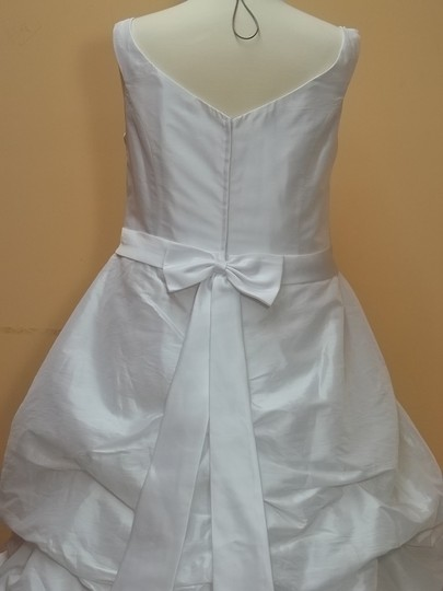 DaVinci Bridal White/White Taffeta T8168 White/White Formal Wedding Dress Size 28 (Plus 3x)