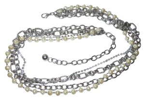 Other faux pearl rhinestone chain belt