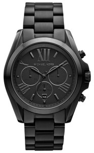 Michael Kors Michael Kors Black Stainless Steel Quartz Chronograph Date Display Roman Numerals MK5550