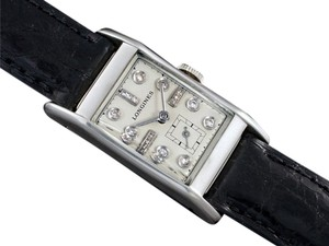 Longines 1947 LONGINES VINTAGE Mens Midsize Watch - PALLADIUM & 17 DIAMONDS