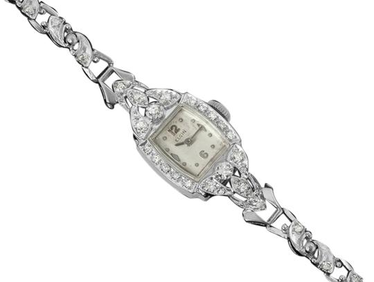 Preload https://item5.tradesy.com/images/elgin-1950-s-elgin-vintage-ladies-watch-14k-white-gold-and-diamonds-5257174-0-0.jpg?width=440&height=440
