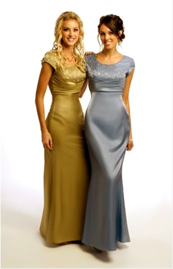 Bronze Satin Ms178 Mob//Evening Modern Dress Size 6 (S)