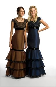 Navy Blue Ms188 Modest Bridesmaid/evening/prom Dress Dress