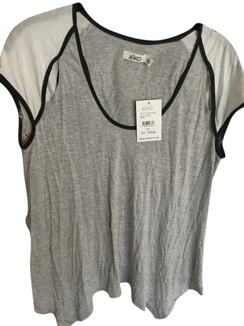 Preload https://item3.tradesy.com/images/aiko-gray-white-and-black-cutout-t-shirt-5257507-0-0.jpg?width=400&height=650