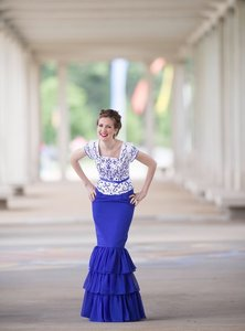 Royal Blue Ms116 Bridesmaid/evening Modest Dress Dress