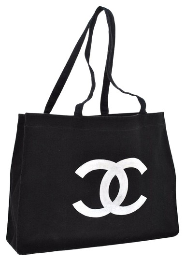 Preload https://item1.tradesy.com/images/chanel-cc-logos-jumbo-shopping-tone-black-canvas-shoulder-bag-5257780-0-2.jpg?width=440&height=440