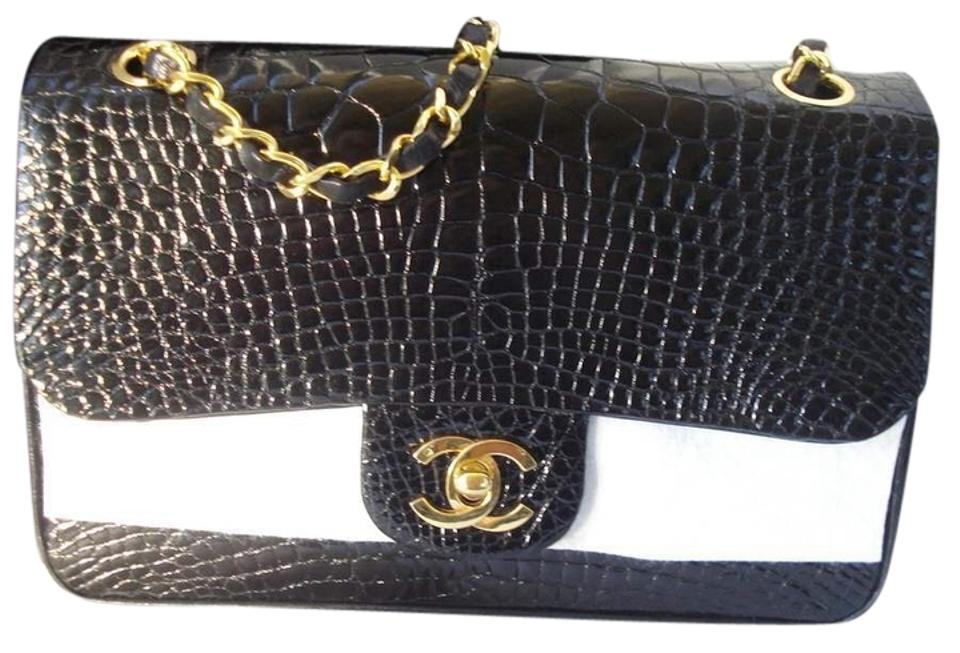 12e751373a5a Chanel 2.55 Reissue Double Flap Rare Classic Handbag Ghw Black Alligator  Skin Leather Shoulder Bag