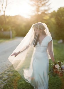 BHLDN Ivory Long Floating Cathedral Bridal Veil