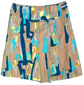 Pringle of Scotland Skirt Green, Blue, Brown