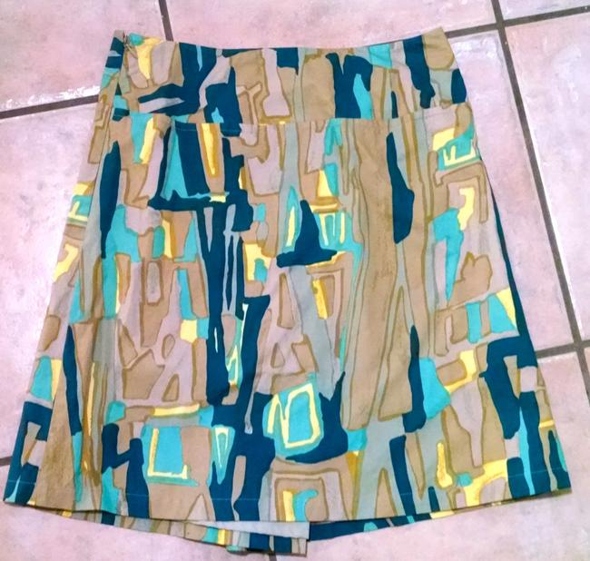 Pringle of Scotland Size 8 Skirt Green, Blue, Brown