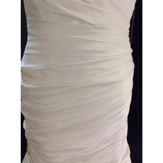 Maggie Sottero Diamond White Tafeta Formal Wedding Dress Size 16 (XL, Plus 0x)