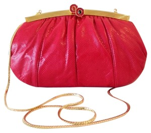 Judith Leiber Shouder Red Clutch